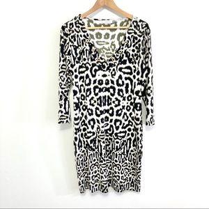 Calvin Klein Sheath Dress Animal Print Leopard